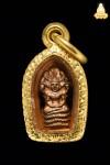 ปรกใบมะขาม พระอาจารย์ฝั้น อาจาโร รุ่น 2 เนื้อทองแดง + เลี่ยมทอง