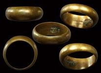 แหวนปลอกมีดเนื้อโลหะผสมปี2532 (นะลอยนิยม)ไซด์ 60 หลวงปู่ดู่วัดสะแก#2