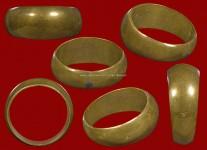 แหวนปลอกมีดเนื้อโลหะผสมรุ่นสร้างที่ดินปี2529 (ไซด์ 60) หลวงปู่ดู่วัดสะแก