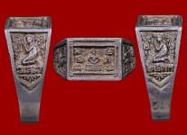 แหวนหน้าพระพุทธเนื้อเงินหน้าใหญ่ ปี 2533 (สภาพ 100% ไซด์ 61)หลวงปู่ดู่วัดสะแก