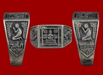 แหวนพระพุทธหน้าเล็กเนื้อเงิน ปี 2532 (ไซด์ 57) หลวงปู่ดู่วัดสะแก