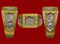 แหวนพระพุทธหน้าเล็กเนื้อเงิน ปี 2532 (ไซด์ 54+ทอง) หลวงปู่ดู่วัดสะแก