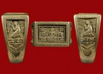 แหวนหน้าพระพุทธเนื้อโลหะผสมปี19(ไซด์60+ทอง) หลวงปู่ดู่วัดสะแก