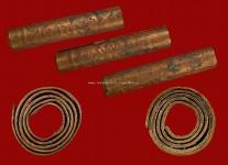 ตะกรุดเนื้อทองแดงปั้มยันต์องค์พระขนาด 1.5 นิ้ว หลวงปู่ดู่วัดสะแก