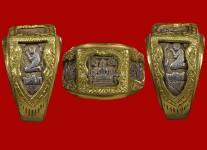 แหวนพระพุทธหน้าเล็กเนื้อเงิน ปี 2532 (ไซด์ 59+ทองหนา) หลวงปู่ดู่วัดสะแก