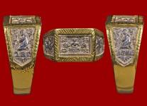 แหวนพระพุทธหน้าใหญ่เนื้อเงิน ปี 2532 โค้ด วสก. (ไซด์ 61+ทอง) หลวงปู่ดู่วัดสะแก