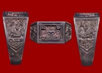แหวนหน้าพระพุทธเนื้อเนื้อเงินปี2524  (สภาพ 100% ไซด์ 57 ) หลวงปู่ดู่วัดสะแก