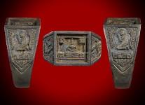 แหวนหน้าพระพุทธเนื้อเงินหน้าใหญ่จอลึก ปี 2527 สภาพ 100%(ไซด์ 61)หลวงปู่ดู่วัดสะแก