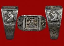 แหวนหน้าพระพุทธหน้าเล็กเนื้อเงินปี2532 โค้ด วสก.(ไซด์ 54) หลวงปู่ดู่วัดสะแก