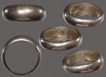 แหวนปลอกมีดเนื้อเงินปี2532 (สภาพ 100 ไซด์ 60) หลวงปู่ดู่วัดสะแก