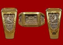 แหวนหน้าพระพุทธเนื้อเงินปี2530(เลี่ยมทองไซด์58) หลวงปู่ดู่วัดสะแก
