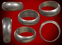แหวนปลอกมีดเนื้อเงินรุ่นสร้างที่ดินปี2529 (ไซด์ 63) หลวงปู่ดู่วัดสะแก