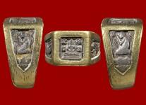 แหวนพระพุทธหน้าเล็กเนื้อเงิน ปี 2532 (ไซด์ 55+ทองหนา) หลวงปู่ดู่วัดสะแก