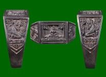 แหวนหน้าพระพุทธเนื้อเงินปี2525 (สภาพ 100% ไซด์ 57 )หลวงปู่ดู่วัดสะแก