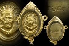 หัวแหวนหลวงปู่ทวด  ปี 06  หลังยันต์จม  เดิมๆสวยๆ   เลี่ยมทองสามห่วง