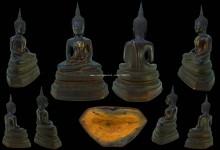 พระบูชาปางสมาธิ  หน้าตัก  5.5  นิ้ว  ก้นดินไทยเดิมๆผิวหิ้ง