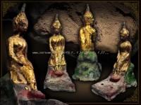 พระบูชาอยุธยา พิมพ์ป่าเลไลย์ หน้าตัก3นิ้ว ลงชาดปิดทองลงสี หายาก