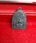 เหรียญระฆัง พระพุทธ โมคคัลลาน์ สารีบุตร ที่ระลึกสร้างอุโบสถ วัดศรีพโลทัย จ.ชลบุรี ปี 2517 หลวงปู่ทิมปลุกแสก สวย ดำ เดิม จมูกสวย