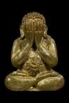 พระปิดตาอุดมโชค หลวงปู่หมุน เนื้อทองเหลือง ปี2543